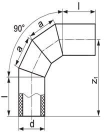Отвод крутоизогнутый 90 гр сварной сегментный
