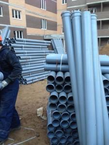 Отгрузка труб на строительный объект